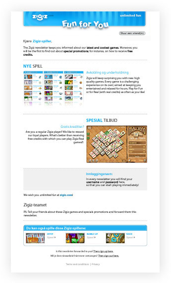 Spill gratis spill hos Zigiz.com - Spille gratis spill!